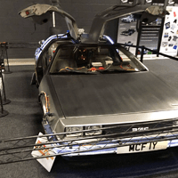 Have your photo taken with the Delorean from Back to the Future