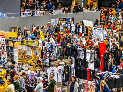 Massive Variety of Traders and Artists with alsorts of Geeky Goodies