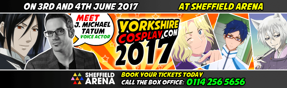 Meet J Michael Tatum at Yorkshire Cosplay Con 2017 Sheffiela Arena